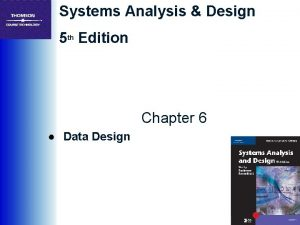 Systems Analysis Design 5 th Edition Chapter 6