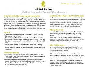 CEDAR Borders Bulletin July 2015 CEDAR Borders Children