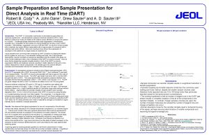 Sample Preparation and Sample Presentation for Direct Analysis
