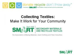 Collecting Textiles Make It Work for Your Community