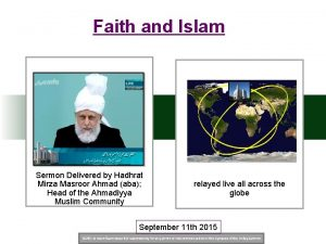 Faith and Islam Sermon Delivered by Hadhrat Mirza
