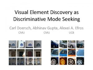 Visual Element Discovery as Discriminative Mode Seeking Carl