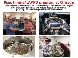 Psec timingLAPPD program at Chicago Evan Angelico Andrey