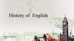 History of English Student Kuzovkina N 2 PIN