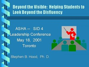 Beyond the Visible Helping Students to Look Beyond