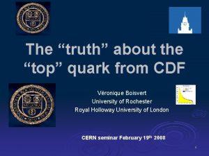 The truth about the top quark from CDF