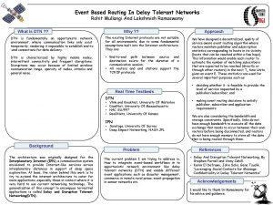 Event Based Routing In Delay Tolerant Networks Rohit