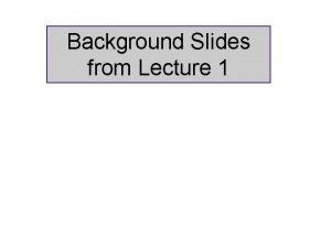 Background Slides from Lecture 1 MultiWavelength SFR Diagnostics