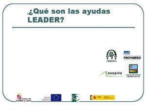 Qu son las ayudas LEADER Qu son las