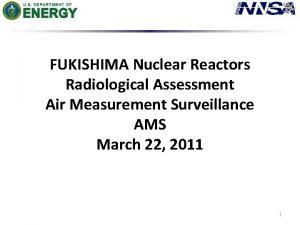 FUKISHIMA Nuclear Reactors Radiological Assessment Air Measurement Surveillance
