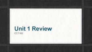 Unit 1 Review CC 7 NS Unit Test