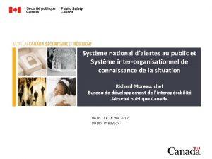 Systme national dalertes au public et Systme interorganisationnel