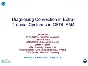 Diagnosing Convection in Extra Tropical Cyclones in GFDL