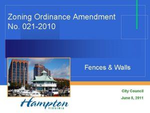 Zoning Ordinance Amendment No 021 2010 Fences Walls