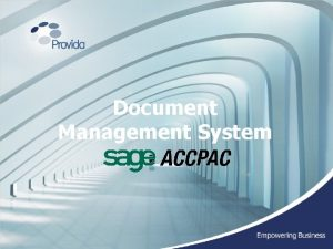 Document Management System Introduction to the Document Management