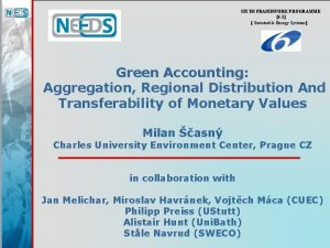 SIXTH FRAMEWORK PROGRAMME 6 1 Sustainable Energy Systems