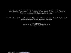 cMet Confers Protection Against Chronic Liver Tissue Damage