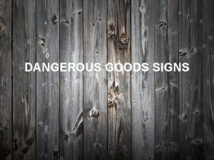 DANGEROUS GOODS SIGNS CLASS 1 1 1 Explosives