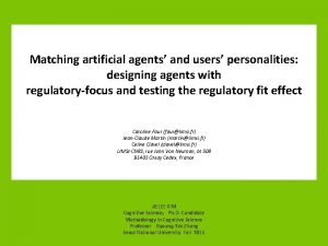 Matching artificial agents and users personalities designing agents