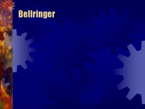 Bellringer Causes of the Great Depression Causes of