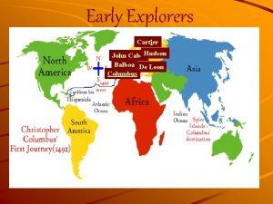 Early Explorers Cartier John Cabot Hudson Balboa De
