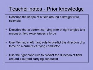 Teacher notes Prior knowledge Describe the shape of