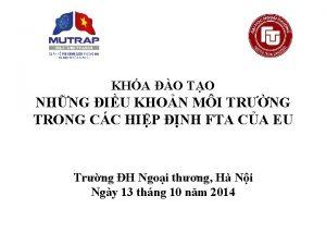 KHA O TO NHNG IU KHON MI TRNG
