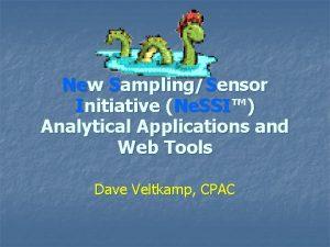 New SamplingSensor Initiative Ne SSI Analytical Applications and