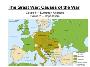 The Great War Causes of the War Cause