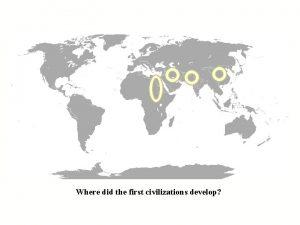 Where did the first civilizations develop Civilization First
