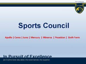 Sports Council Apollo Ceres Juno Mercury Minerva Poseidon
