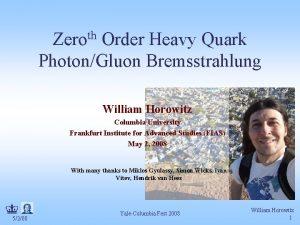 Zeroth Order Heavy Quark PhotonGluon Bremsstrahlung William Horowitz