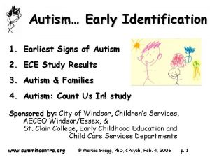 Autism Early Identification 1 Earliest Signs of Autism
