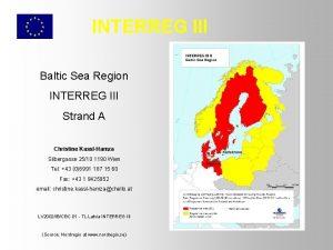 INTERREG III Baltic Sea Region INTERREG III Strand