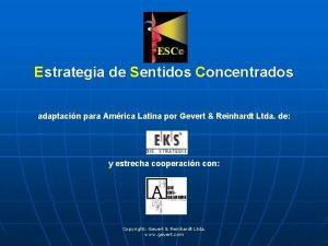 Estrategia de Sentidos Concentrados adaptacin para Amrica Latina