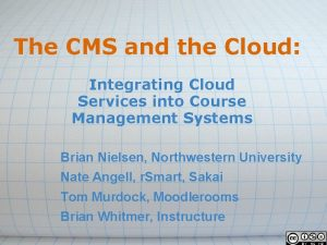 The CMS and the Cloud Integrating Cloud Services