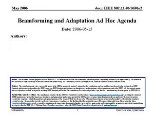 May 2006 doc IEEE 802 11 060696 r