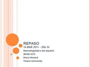 REPASO 14 MAR 2011 DA 24 Neurolingstica del