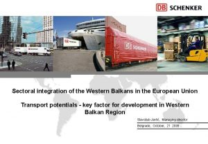 Sectoral integration of the Western Balkans in the