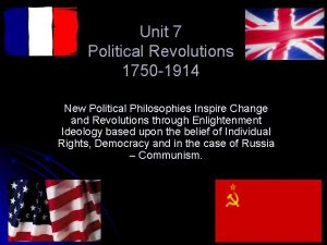 Unit 7 Political Revolutions 1750 1914 New Political