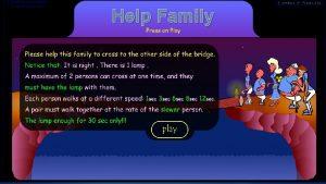 Help Family Pseudo code Start 5 people 30
