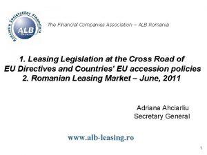 The Financial Companies Association ALB Romania 1 Leasing