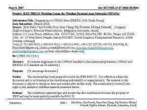 March 2007 doc IEEE 802 15 07 0668