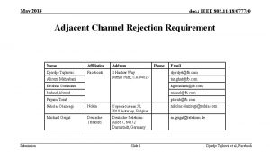 May 2018 doc IEEE 802 11 180777 r