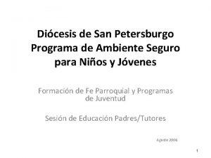 Dicesis de San Petersburgo Programa de Ambiente Seguro