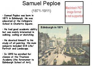 Samuel Peploe 1871 1911 Samuel Peploe was born