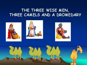 THE THREE WISE MEN THREE CAMELS AND A
