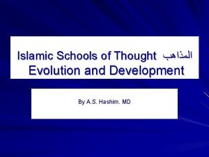 Islamic Schools of Thought Evolution and Development By