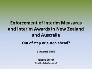 Enforcement of Interim Measures and Interim Awards in