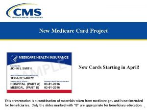New Medicare Card Project New Cards Starting in